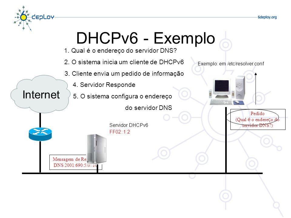 (Qual é o endereço do servidor DNS )