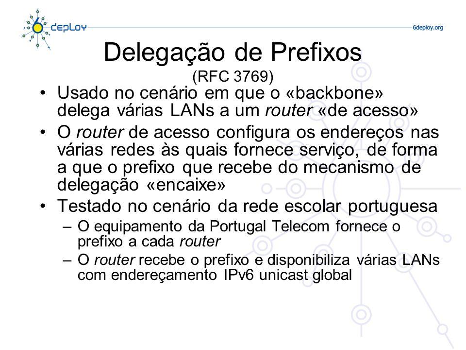 Delegação de Prefixos (RFC 3769)