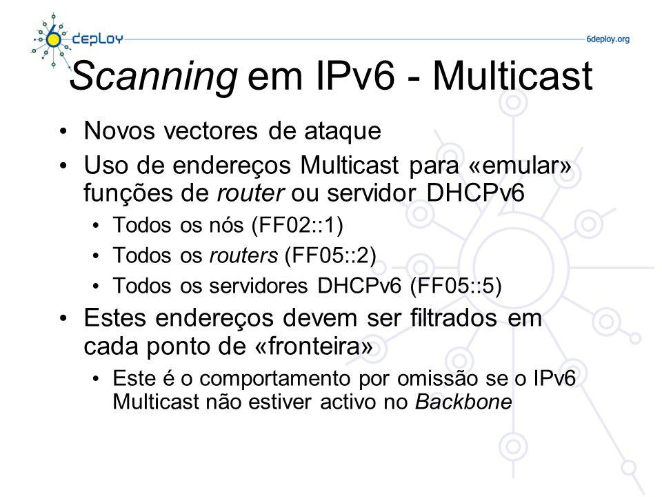 Scanning em IPv6 - Multicast
