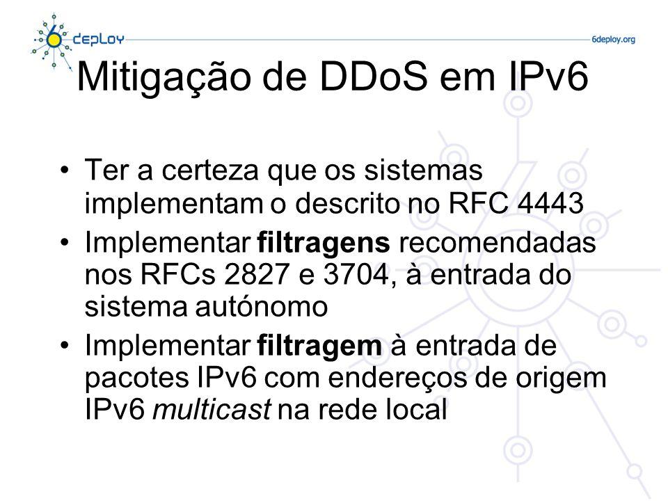 Mitigação de DDoS em IPv6