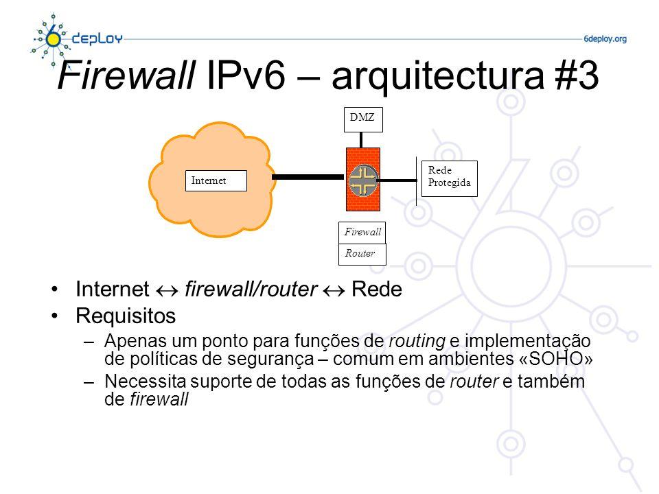 Firewall IPv6 – arquitectura #3