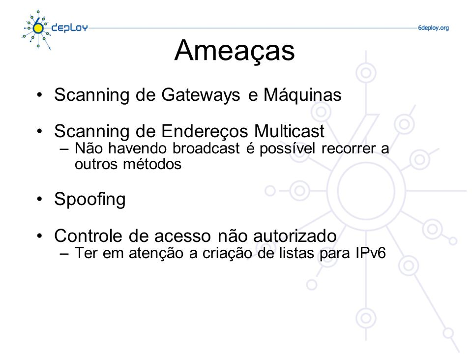 Ameaças Scanning de Gateways e Máquinas