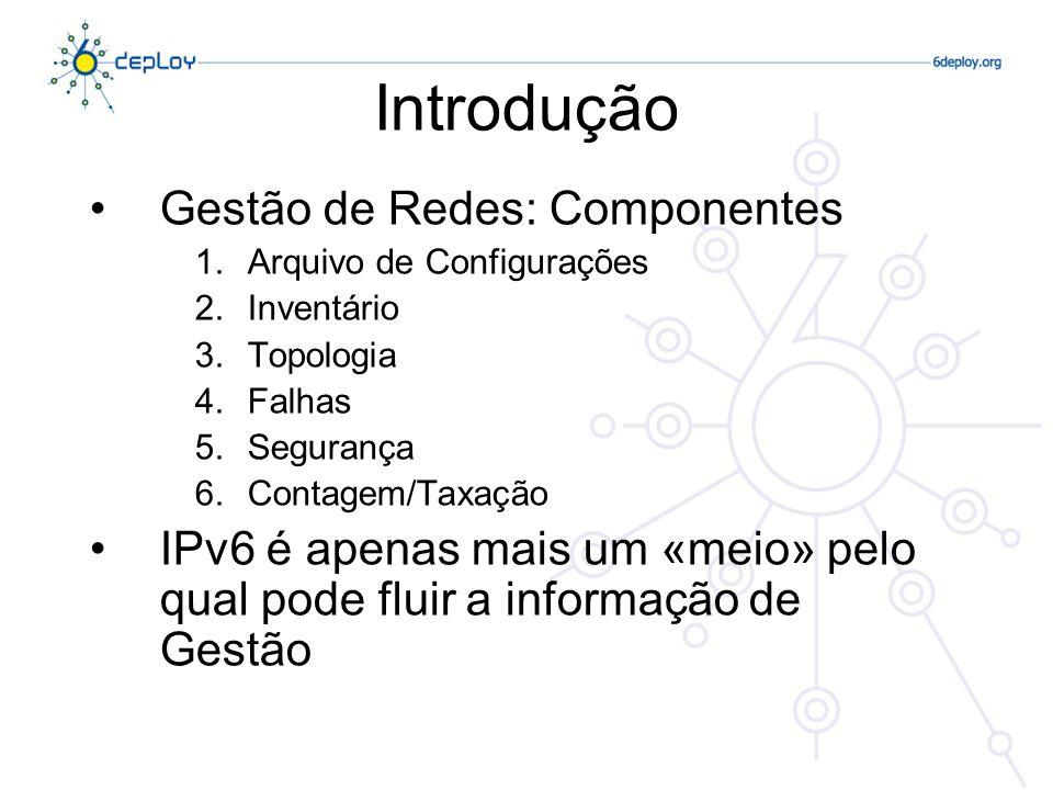 Introdução Gestão de Redes: Componentes