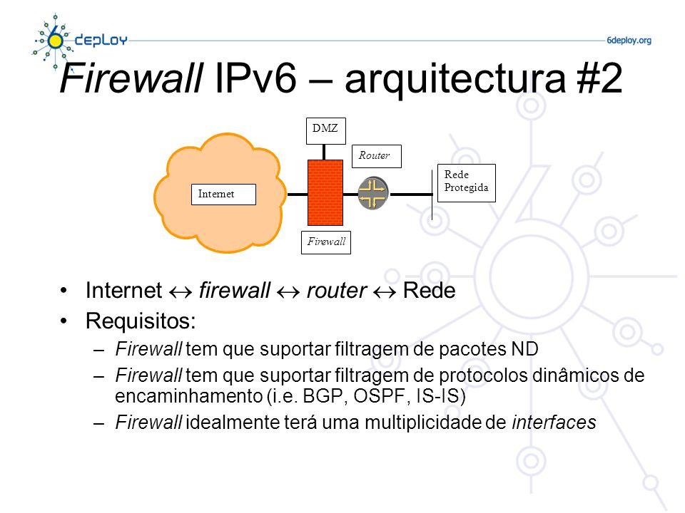 Firewall IPv6 – arquitectura #2