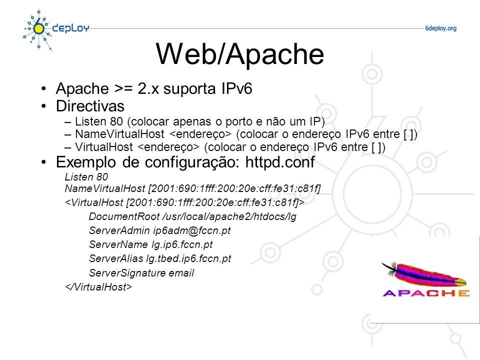 Web/Apache Apache >= 2.x suporta IPv6 Directivas
