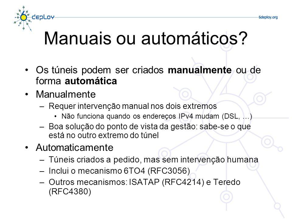 Manuais ou automáticos