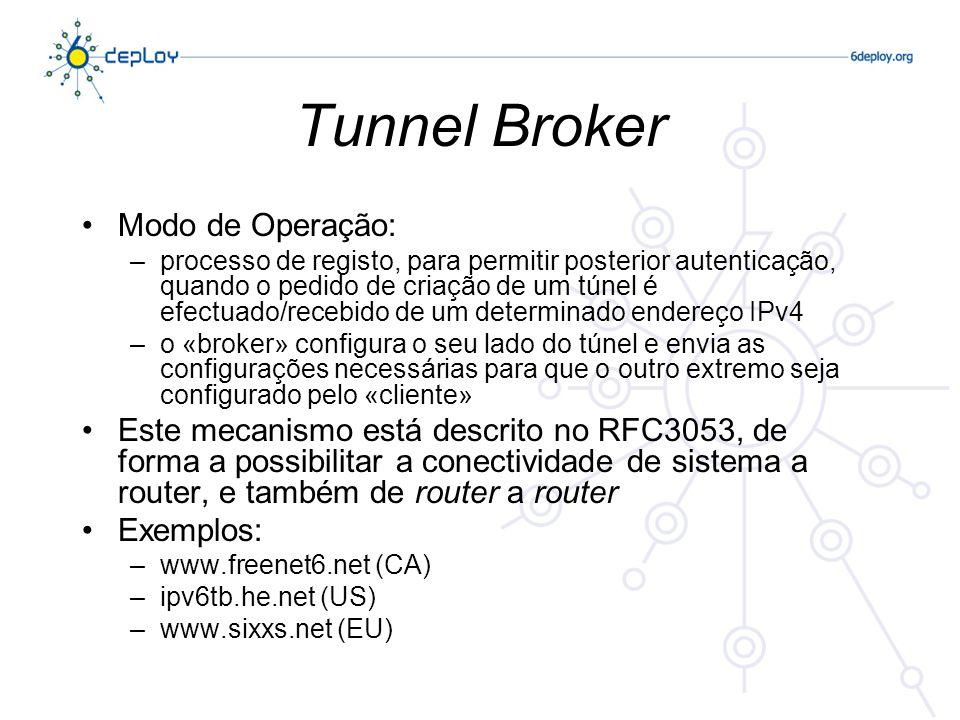 Tunnel Broker Modo de Operação:
