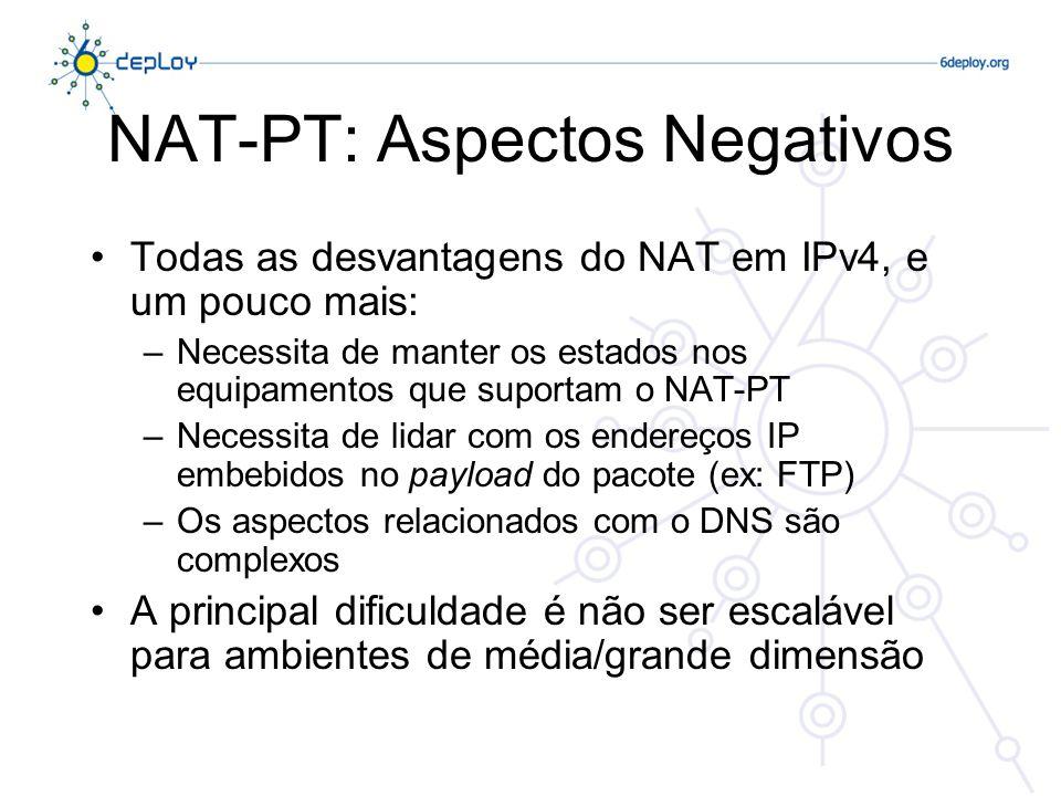 NAT-PT: Aspectos Negativos