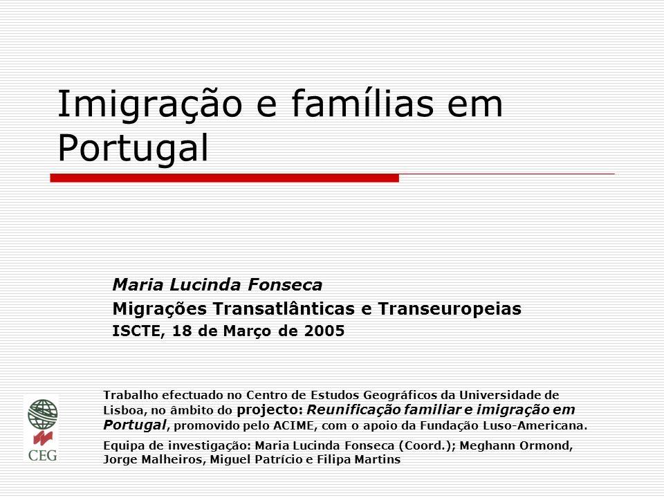 Imigração e famílias em Portugal