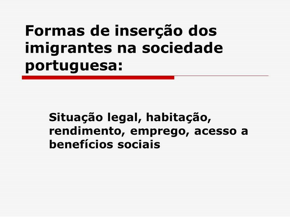 Formas de inserção dos imigrantes na sociedade portuguesa: