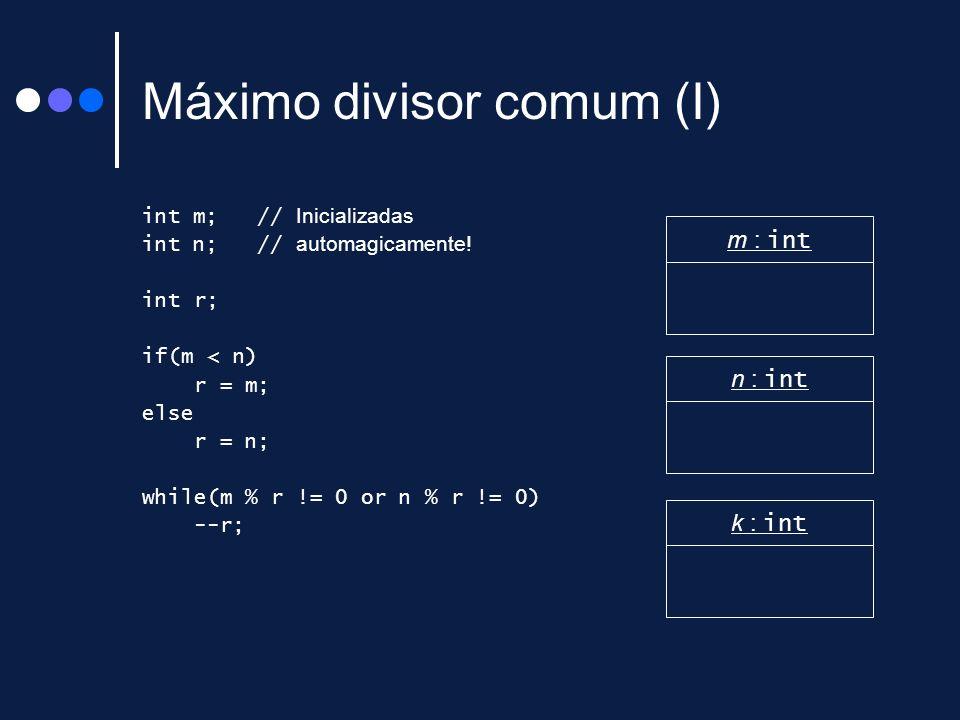 Máximo divisor comum (I)