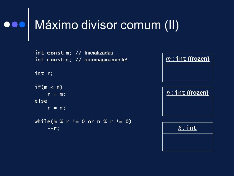 Máximo divisor comum (II)