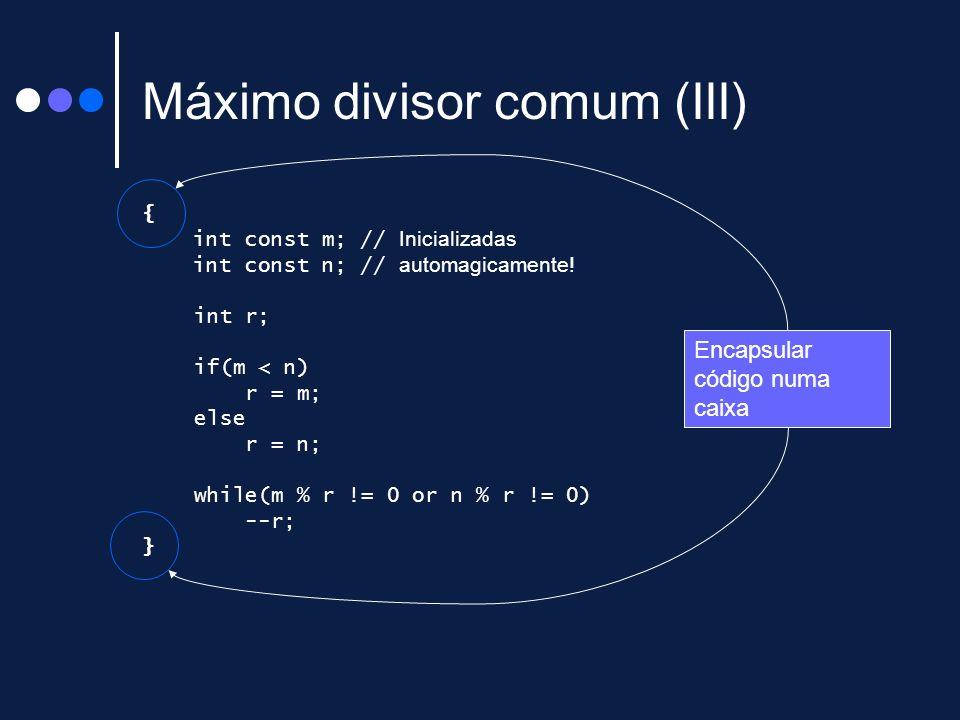Máximo divisor comum (III)