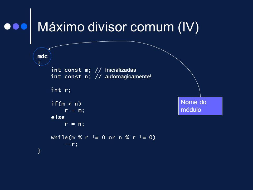 Máximo divisor comum (IV)