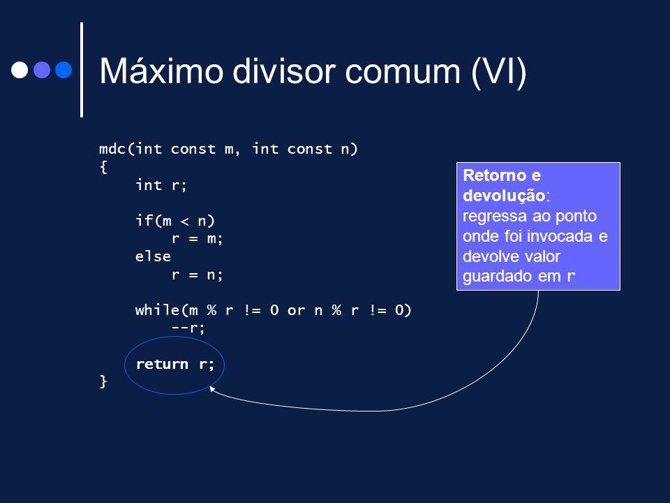 Máximo divisor comum (VI)