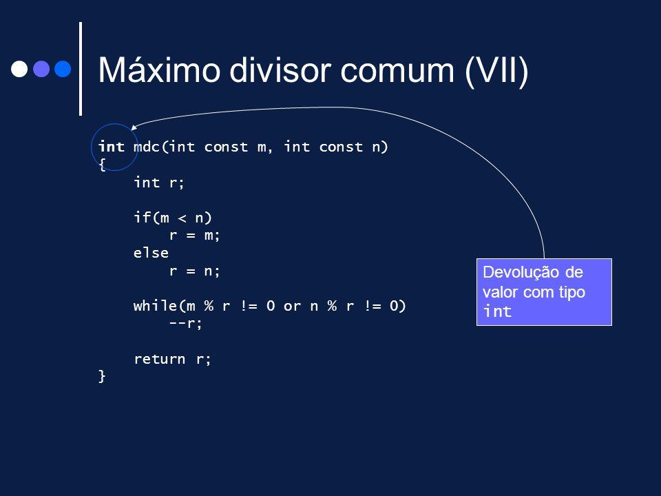 Máximo divisor comum (VII)