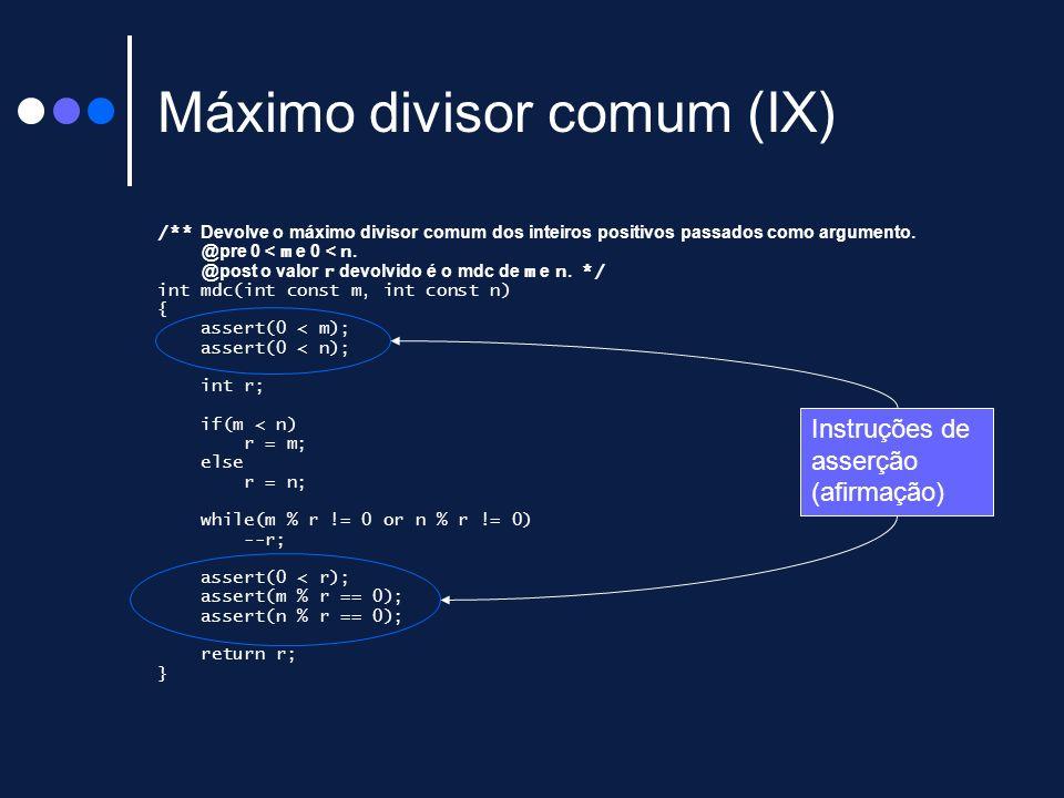 Máximo divisor comum (IX)