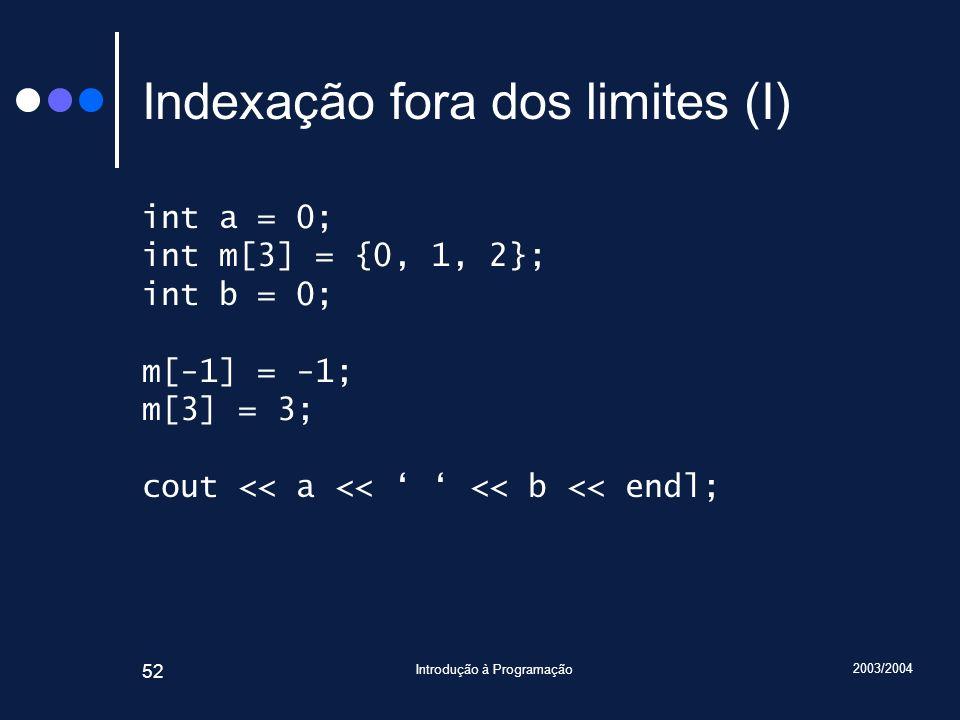 Indexação fora dos limites (I)