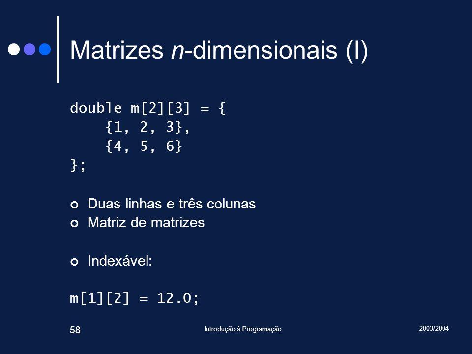 Matrizes n-dimensionais (I)