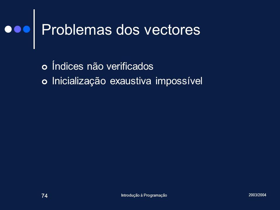 Problemas dos vectores
