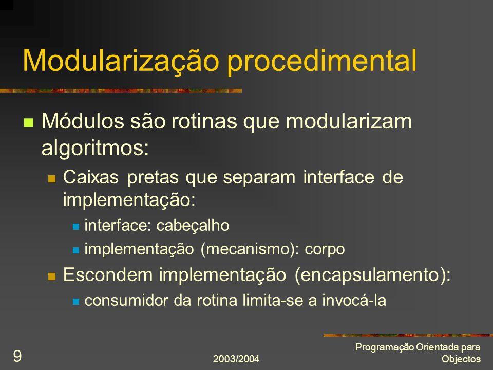 Modularização procedimental