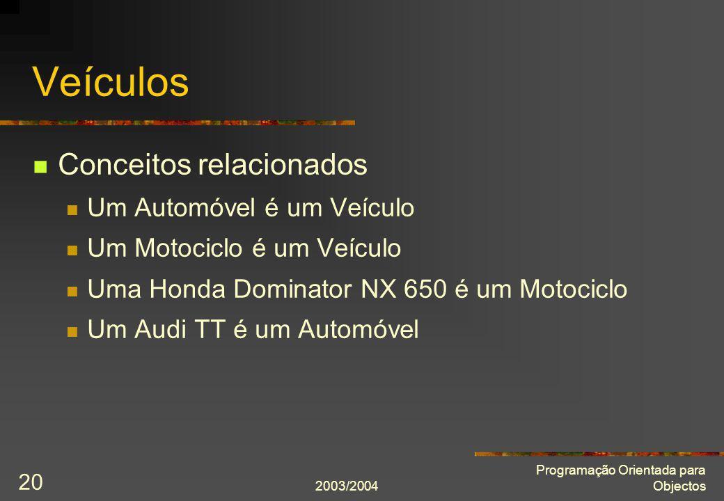 Veículos Conceitos relacionados Um Automóvel é um Veículo