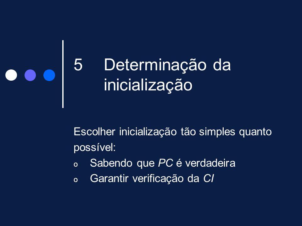 Determinação da inicialização