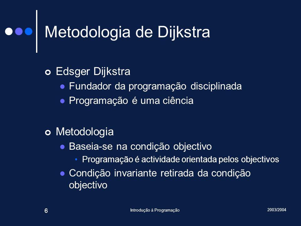 Metodologia de Dijkstra