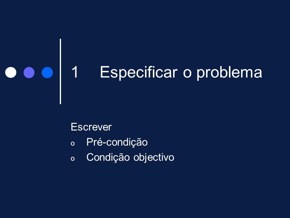 Especificar o problema
