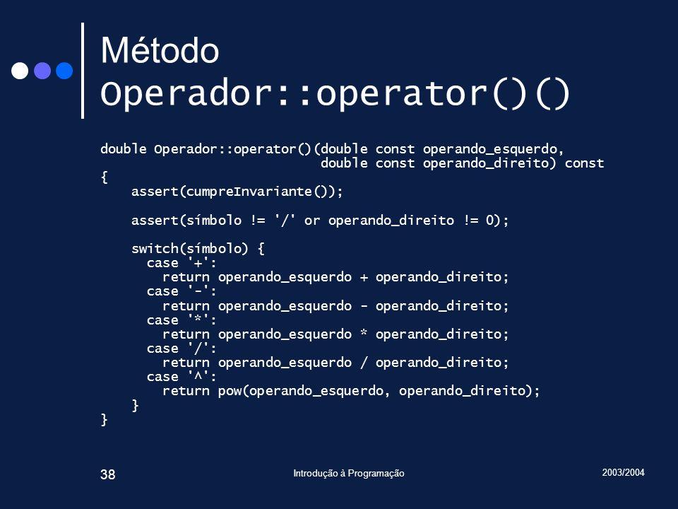 Método Operador::operator()()