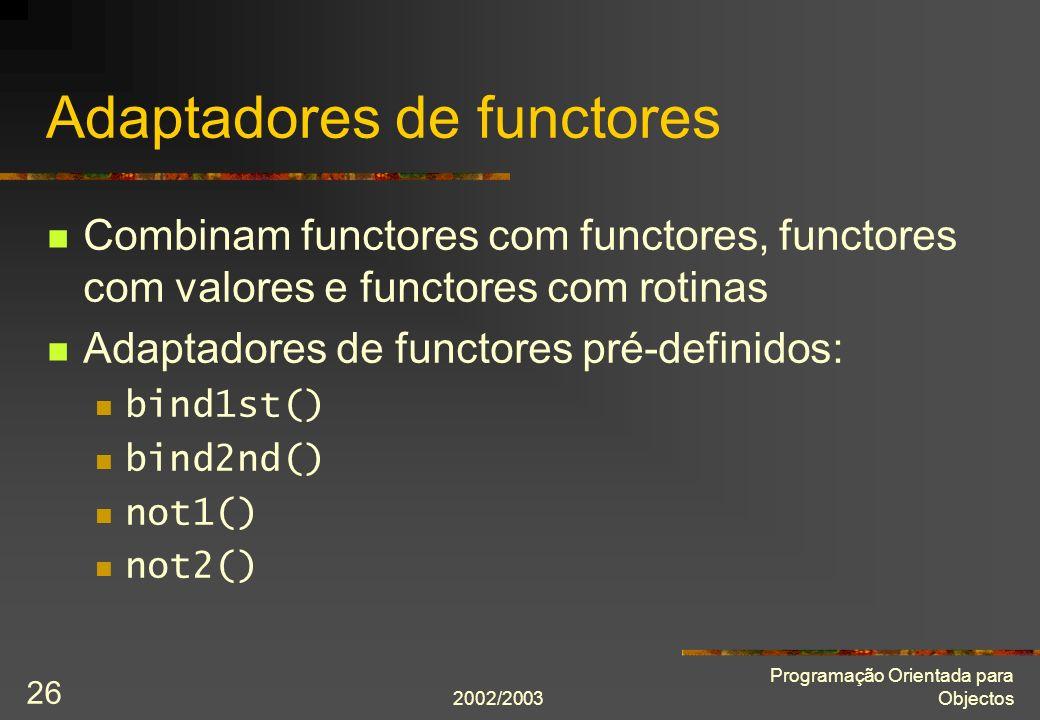 Adaptadores de functores