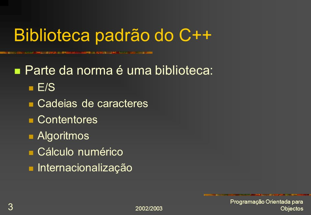 Biblioteca padrão do C++