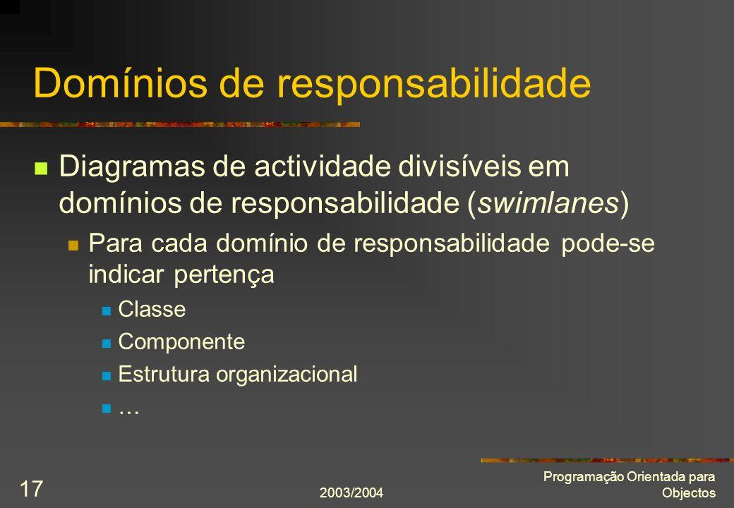 Domínios de responsabilidade