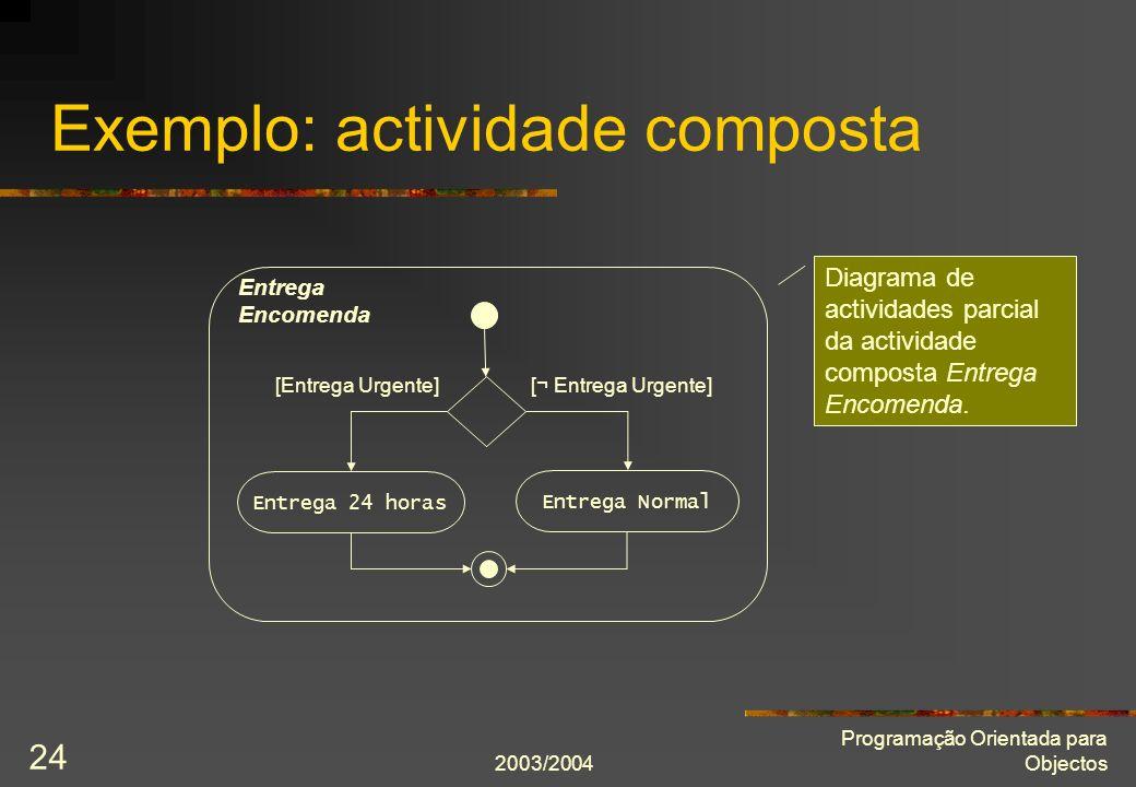 Exemplo: actividade composta