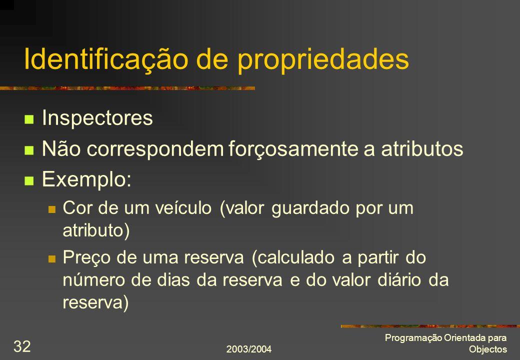 Identificação de propriedades
