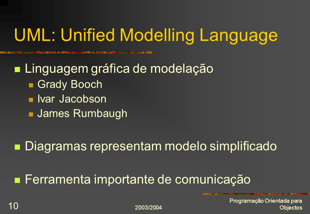 UML: Unified Modelling Language