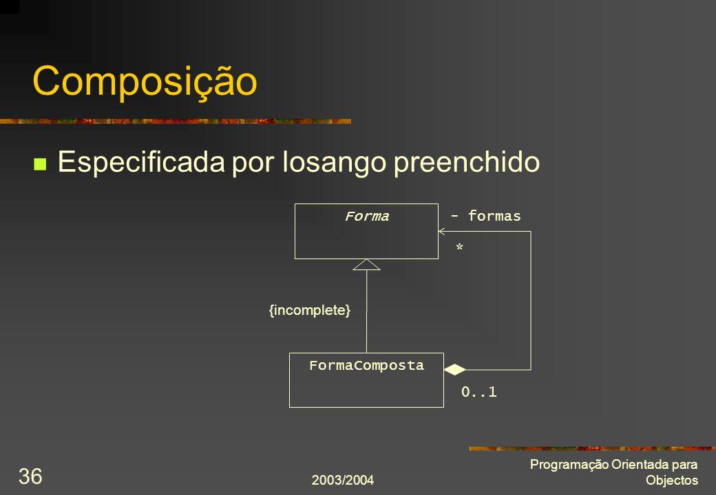 Composição Especificada por losango preenchido Forma - formas *