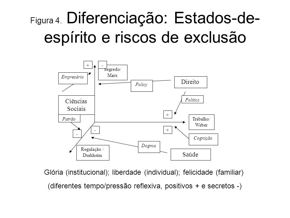 Figura 4. Diferenciação: Estados-de-espírito e riscos de exclusão