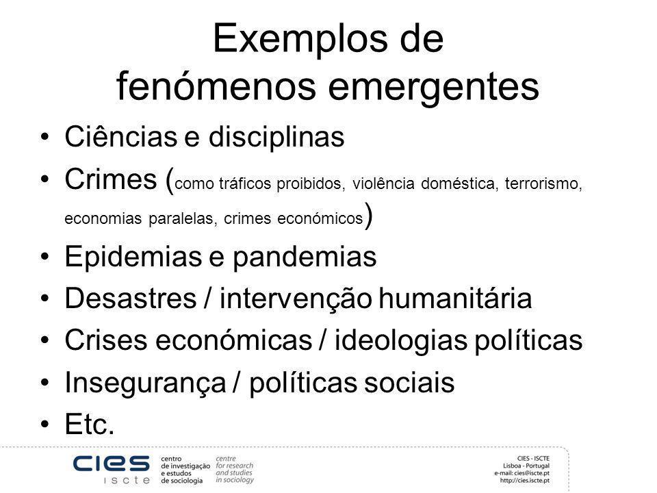 Exemplos de fenómenos emergentes