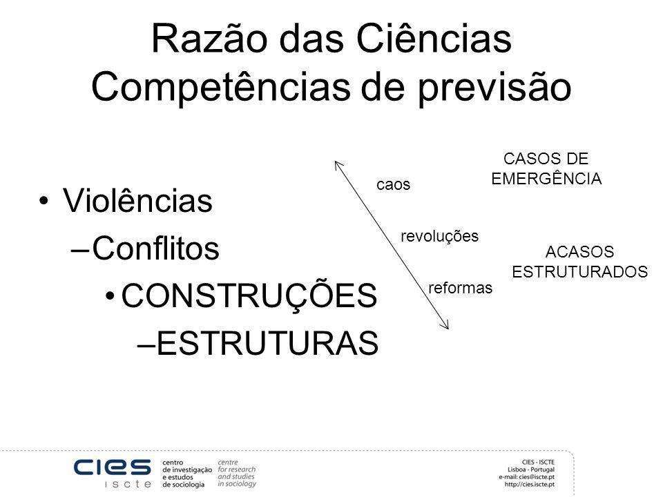 Razão das Ciências Competências de previsão
