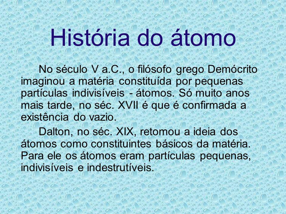 História do átomo