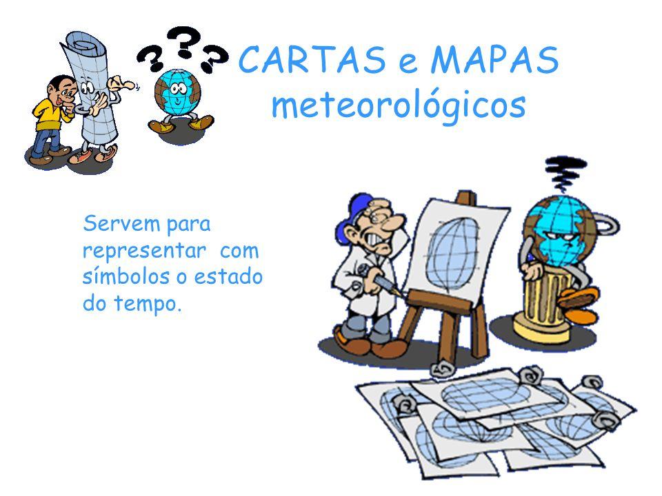 CARTAS e MAPAS meteorológicos