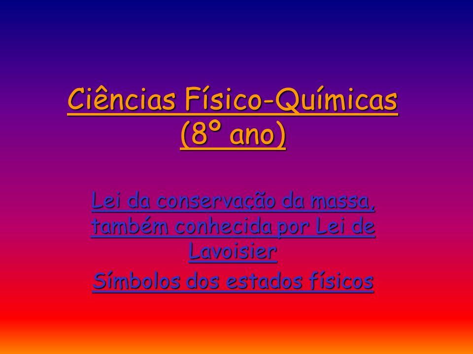 Ciências Físico-Químicas (8º ano)