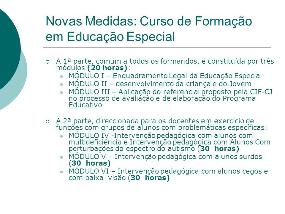 Novas Medidas: Curso de Formação em Educação Especial
