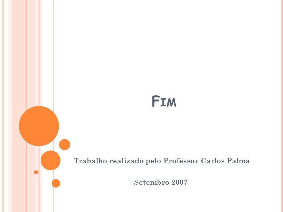 Trabalho realizado pelo Professor Carlos Palma Setembro 2007