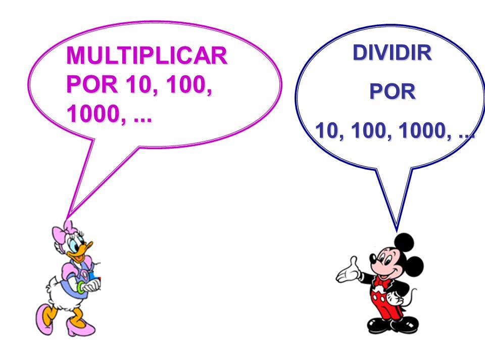 MULTIPLICAR POR 10, 100, 1000, ... DIVIDIR POR 10, 100, 1000, ...