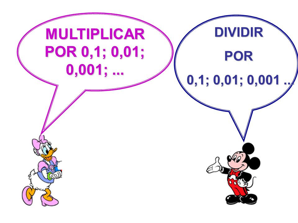MULTIPLICAR POR 0,1; 0,01; 0,001; ... DIVIDIR POR 0,1; 0,01; 0,001 ...