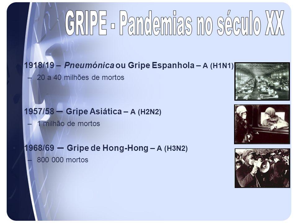 GRIPE - Pandemias no século XX