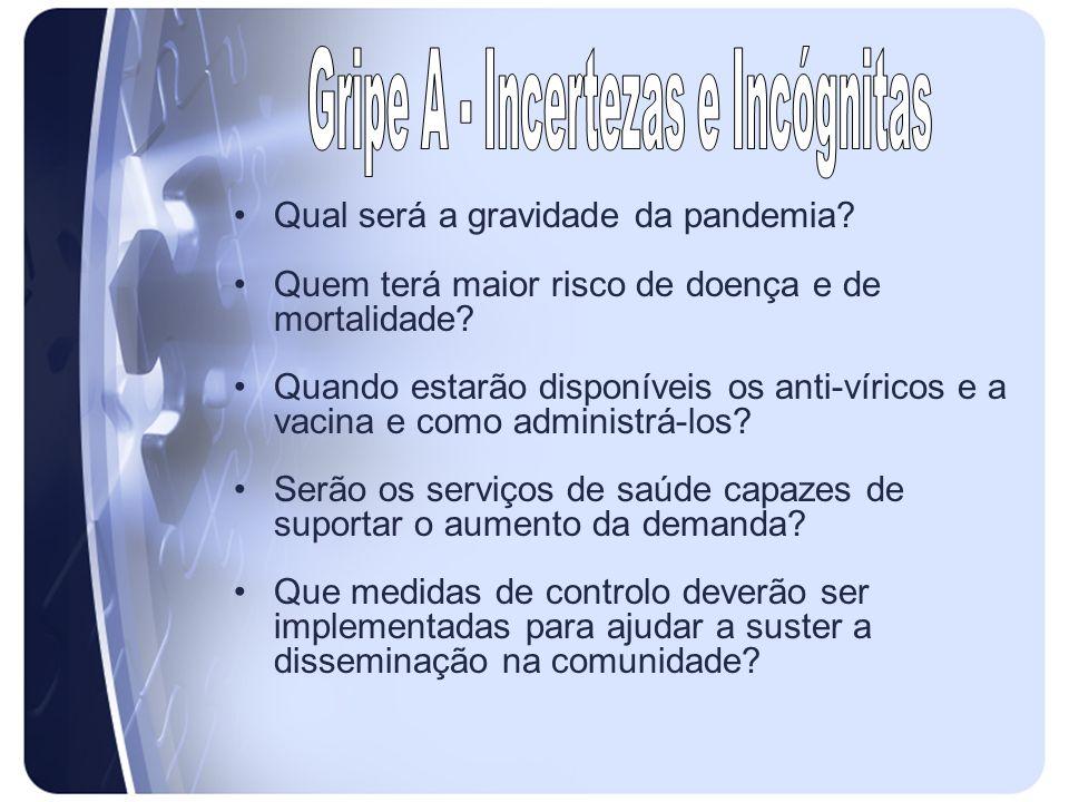 Gripe A - Incertezas e Incógnitas