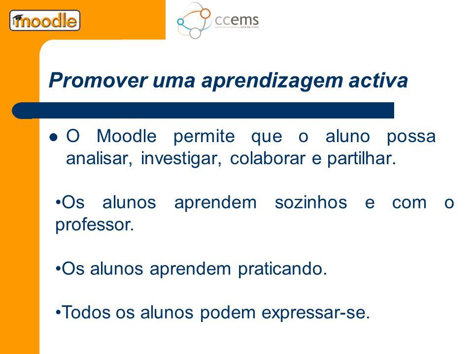 Promover uma aprendizagem activa